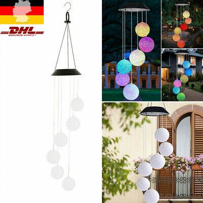 LED Solar Windspiel Solarleuchte Farbwechsel Solarlampe Hängeleuchte Garten Deko