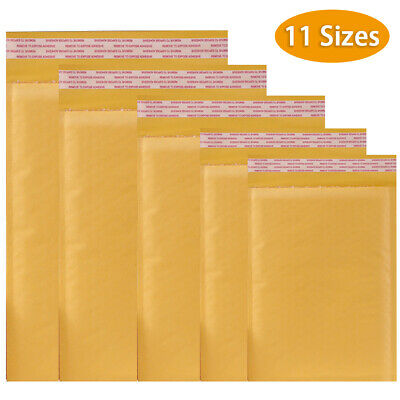 50100packs 11 Sizes Padded Envelopes Kraft Bubble Mailers Shipping Mailing Bags