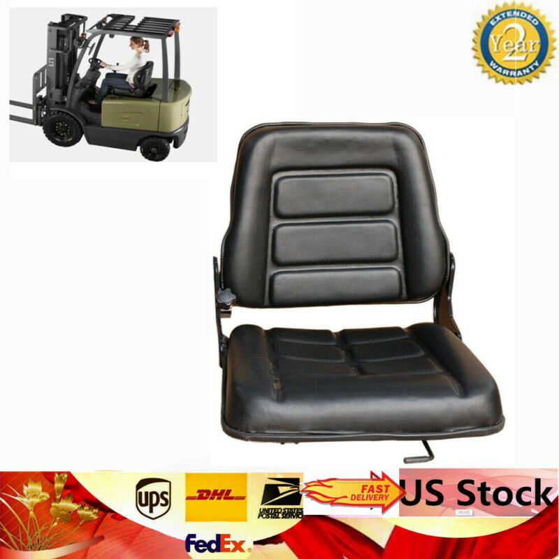 Universal Forklift Seat Chair Bobcat Tractor Excavator Multi-function Adj. New