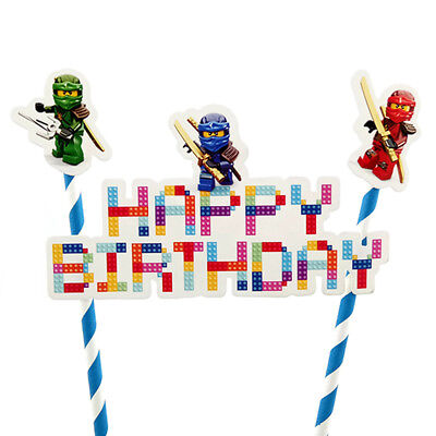 1set Ninjago Theme Birthday Cake Topper for Party DIY Baking Cake Decoration