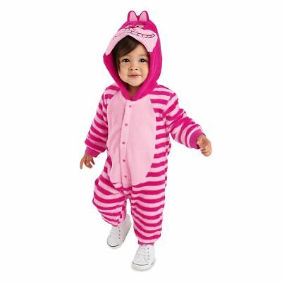 0 3 Month Costumes (Disney Store Authentic Cheshire Cat Fleece Costume Romper Baby 0 3 9 12)