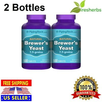 1000 TABLETS BREWERS YEAST 500mg 7.5 GRAIN ENERGY LOWER GLUCOSE SUGAR SUPPLEMENT