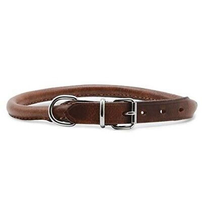 """Ancol Heritage Leather Round Sewn Collar Chestnut 65cm/26"""" S"""