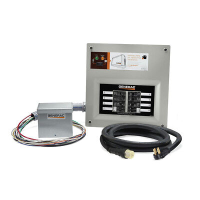 Generator Indoor Transfer Switch - Generac 50-Amp Indoor Pre-wired Upgradeable Manual Transfer Switch 9855 New