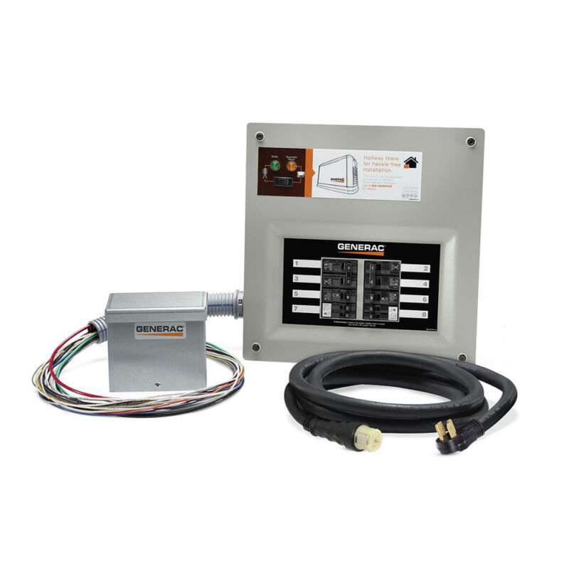 Generac 50-Amp Indoor Pre-wired Upgradeable Manual Transfer Switch 9855 New