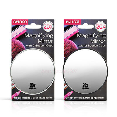 Swissco suction cup mirror. 20x magnification, 3 1/2'' diameter *Chose any* ()