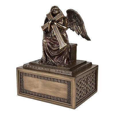 Perfect Memorials Large Angel with Cross Cremation Urn