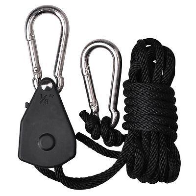 (New2XGrow Light Rope Hanger Ratchet Reflector Hanger 150lb 1/8