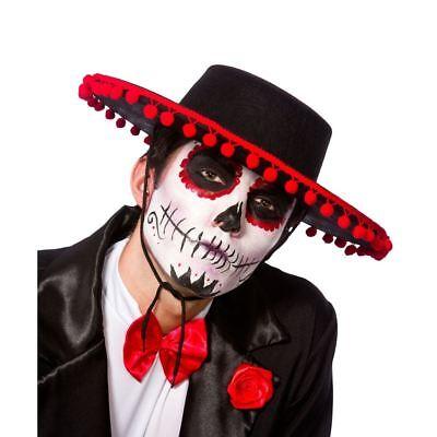 Tag der Toten Mariachi Band Hut Kostüm Spanisch Halloween Erwachsene