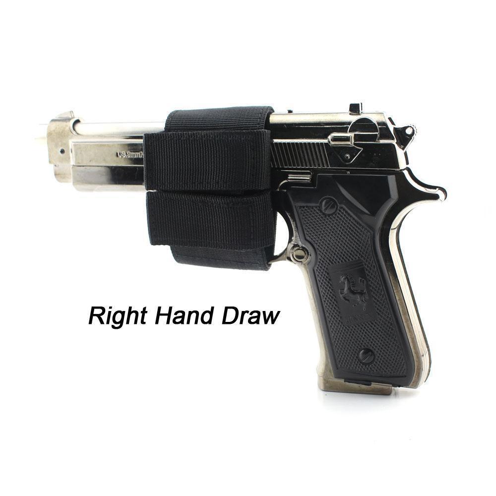Concealed Carry Pistol Holster Adjustable Hook Loop Lightweight Handgun Holster