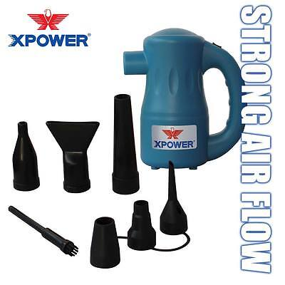 XPOWER A-2 Airrow Pro 115V Computer Keyboard Air Duster Blower Dust Off - Blue