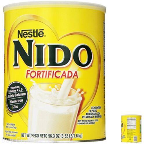 Nestle NIDO Fortificada Dry Powdered Milk 3.52 Pound Canister Children Healthy