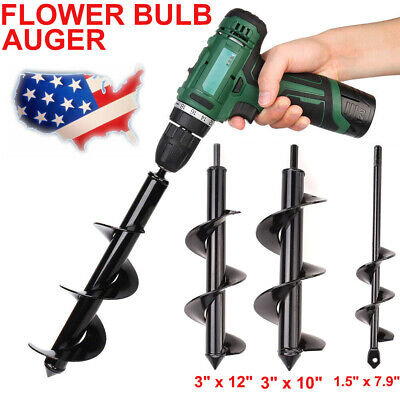 3x10 12 Earth Auger Plant Ground Fence Post Hole Digger Drilling Drill Bit
