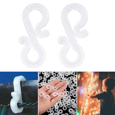 Outdoor Gutter Hooks Clips Christmas Icicle Fairy Lights LED Tile Roof Clear ()