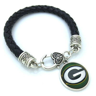GREEN BAY PACKERS LEATHER BRACELET- by the COSTUME JEWELRY KING](Green Bay Packer Costume)