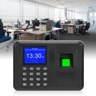 Employee Attendance Punch Time Clock Recorder Lcd Time Recorder System Au Plug