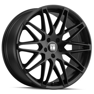 "4-Touren TR75 18x8 5x120 +40mm Matte Black Wheels Rims 18"" Inch"
