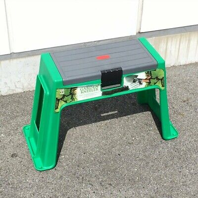 Movable Garden Stool Green Kneeler Chair Soft bench Padded Seat Tool Box Storage