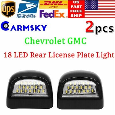 Rear License Plate Lights 18-Led Fit For 99-14 Chevrolet GMC Pickup Truck