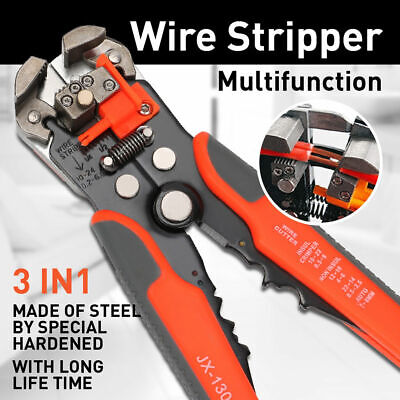 Professional Electrical Wire Terminal Cutter Stripper Plier Crimper Hand Tool