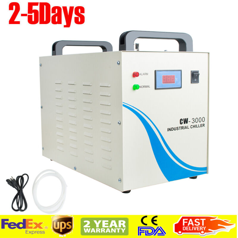 Pro Industrial Water Chiller CW-3000 for CNC/Laser Engraver Engraving Machine US