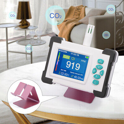 Carbon Dioxide Detector Co2 Ppm Meter Air Quality Monitor Gas Analyzer W Alarm