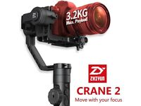 Zhiyun Crane 2 Stabiliser 3 Axis Handheld Gimbal for All DSLR SONY CANON NIKON