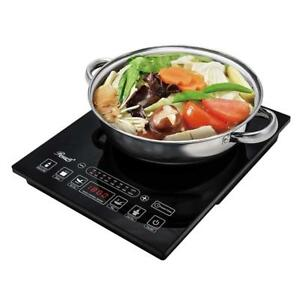 NEW Rosewill RHAI-15001 1800W 5 Pre-Programmed Settings Induction Cooker Cooktop with Stainless Steel Pot, Black Cond...