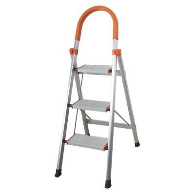 Non-slip 3 Step Aluminum Ladder Folding Platform Stool 330 l