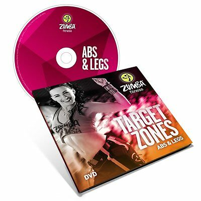 Zumba Fitness Target Zones Abs and Legs DVD NEW Free Shipping