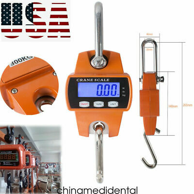 Digital 300kg600lbs Crane Scale Industrial Steel Hook Hanging Weight Scale Usps