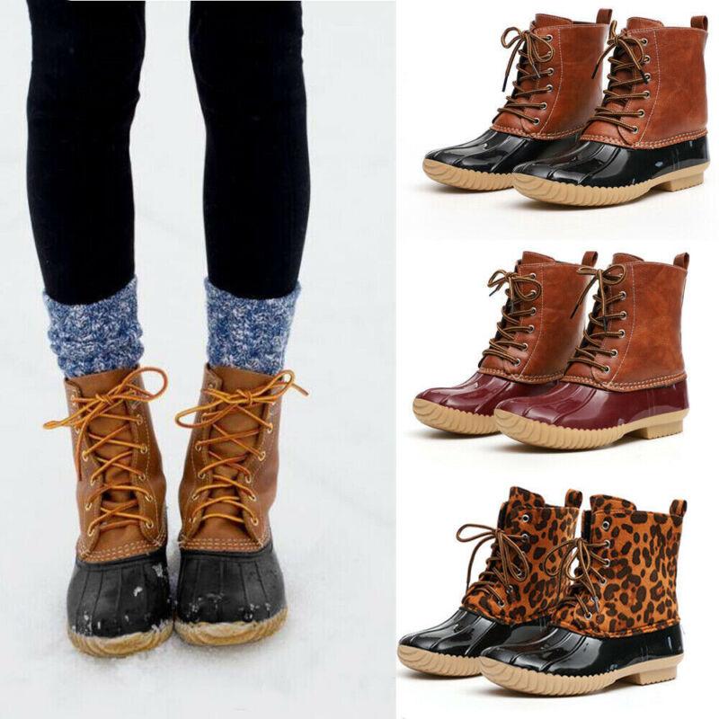 Womens Winter Duck Boots Snow Waterproof Hiking Walking Hike