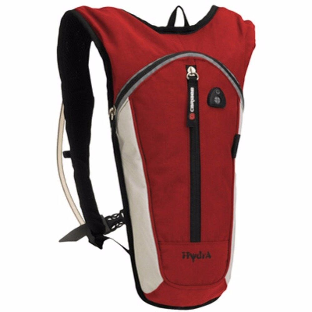 2 pack Caribee Hydra Sports Hydration Pack 1.5L. One each Red & Navy