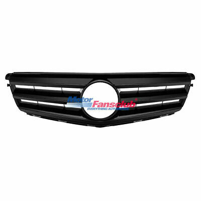 Full Black For Mercedes-Benz C Class W204 Front Upper Grill C300 C350 C250 08-14