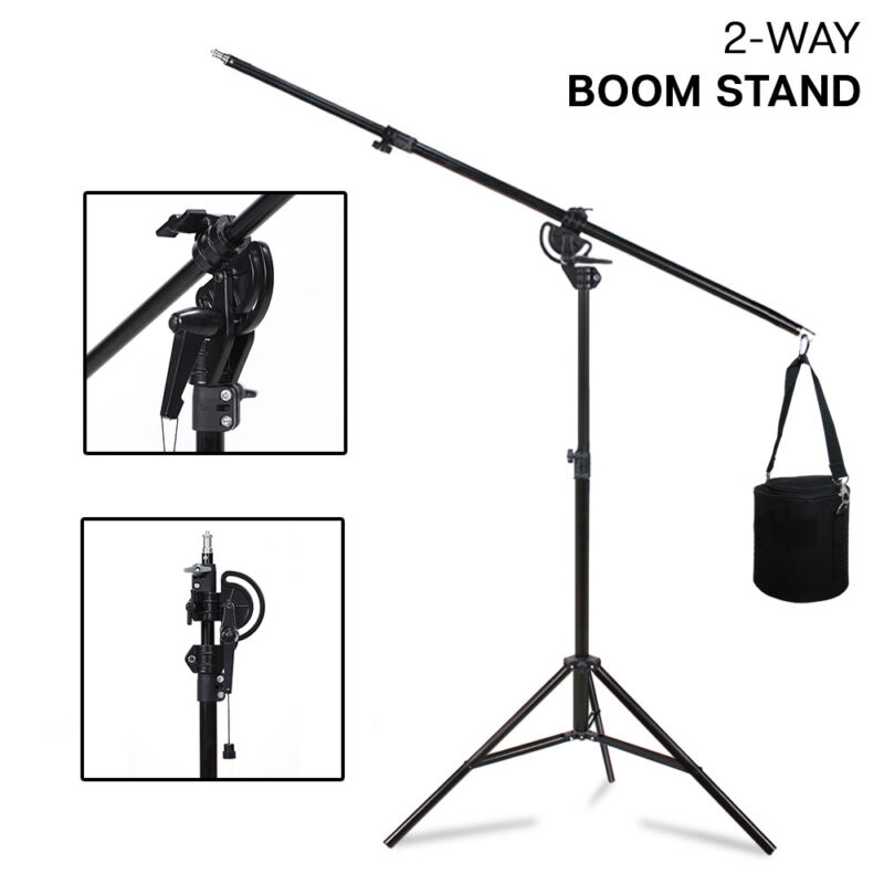 Photography Light Stand Kit w/ Boom Arm and Sandbag For Studio Flash Strobe