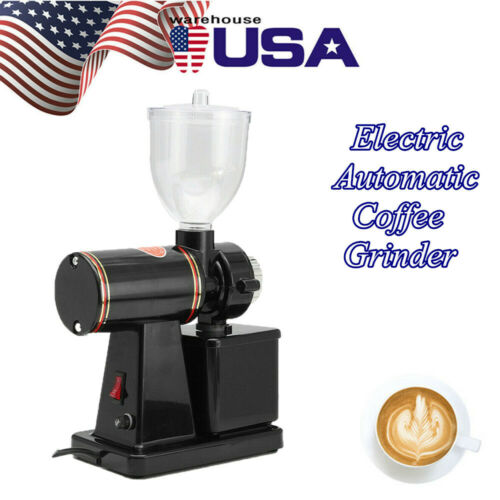 Photo Commercial Coffee Grinder Electric Automatic Burr Mill Espresso Bean Home Grind