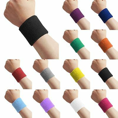 3 inch Cotton Sweatbands Wristbands Wrist Sweat Bands Gymnas