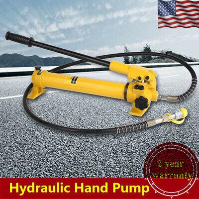 350cc Hydraulic Hand Pump 4 Foot Hosehose Couplermax Output Pressure 10000 Psi