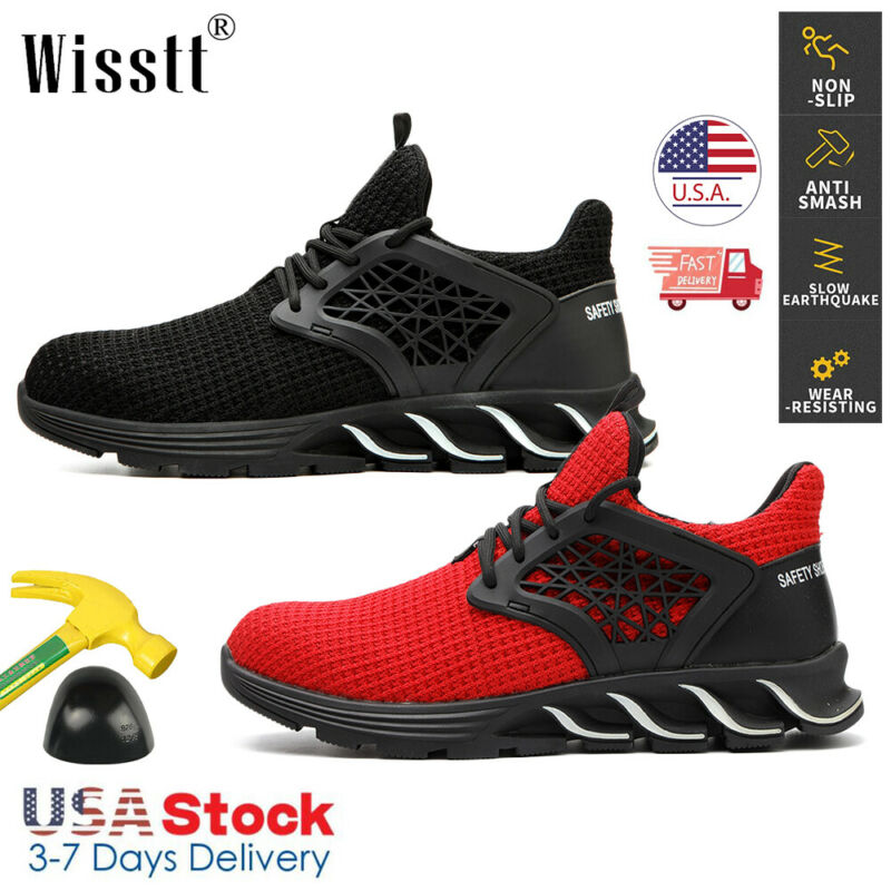 Mens Womens Safety Shoes Steel Toe Work Boots Indestructible