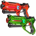 Light Battle Active Lasergame guns - Groen/Oranje - 2 Pack