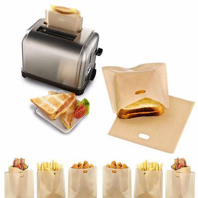 2 Pcs/set Sandwich Toaster Pledge Bags Non-Stick Reusable Safety Heat Resistant