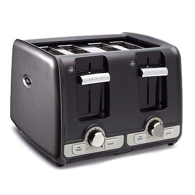Oster 4-Slice Toaster w/ Exceptionally Wide Slots Bagel & Toast Lift, Gray   TSSTTRWA4G