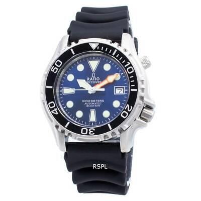 Ratio FreeDiver Helium Safe 1000M Stainless Steel 1066KE20-33VA-BLU Men's Watch