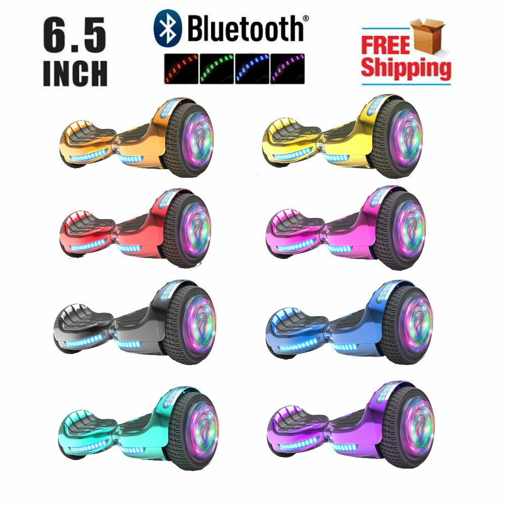 6.5'' hoverboard with bluetooth & led, Two Wheel Electric Sc