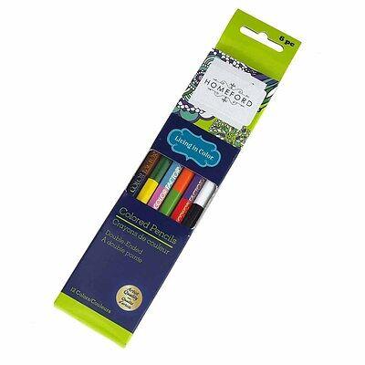 Double Ended Colored Pencils, Multi-color, 6-Count - Multicolor Pencil