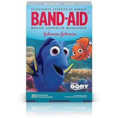 (BAND-AID Adhesive Bandages, Disney's Finding Dory, Assorted Sizes 20 ea)