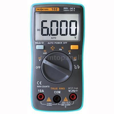 Rm101 Digital Multimeter Dmm Dc Ac Voltage Current Meter For Lab Radio Fans N8a8