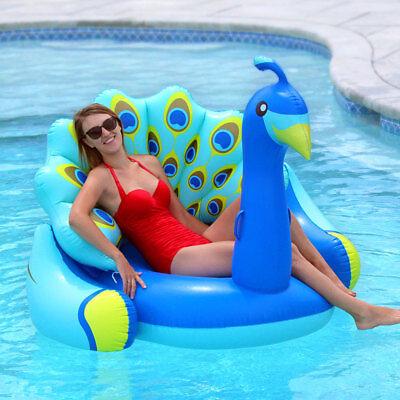 Swimline Giant Peacock Lounger Swimming Pool Inflatable Animal Ride On - Giant Inflatable Animals