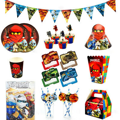 110pcs Party Supplies Set for 12 Kids Child Ninjago Ninja Theme Party Decoration
