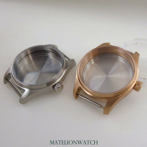 39mm CUSN8 Watch Case Fit NH35 NH36 200M Waterproof Solid Bronze Sapphire Glass